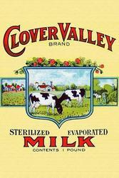 Clover Valley Brand Sterilized Evaporated Milk (Framed Poster)