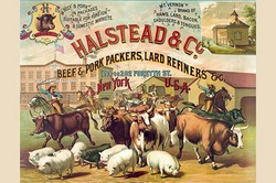Halstead & Co. beef & pork Packers, Lard Refiners & Co. (Fine Art Giclee)
