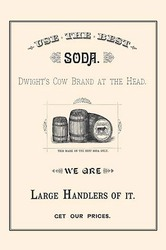 Dwights Cow Brand Soda (Paper Poster)