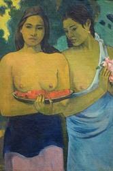 Two Tahitian Women (Canvas Art)