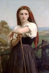 The Young Shepherdess (Framed Poster)