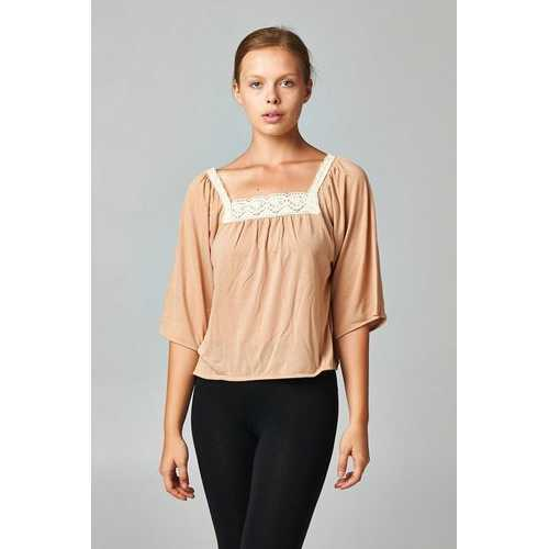 Women's Square Neck Lace Top