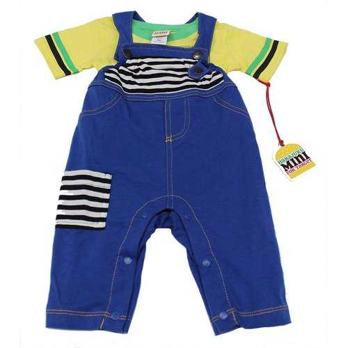 Boys Yellow T-Shirt with Blue Jean Overalls