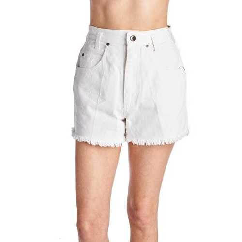 Women's Colored Washed Denim Short