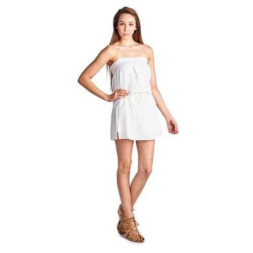 Women's Smocked Strapless Tube Dress