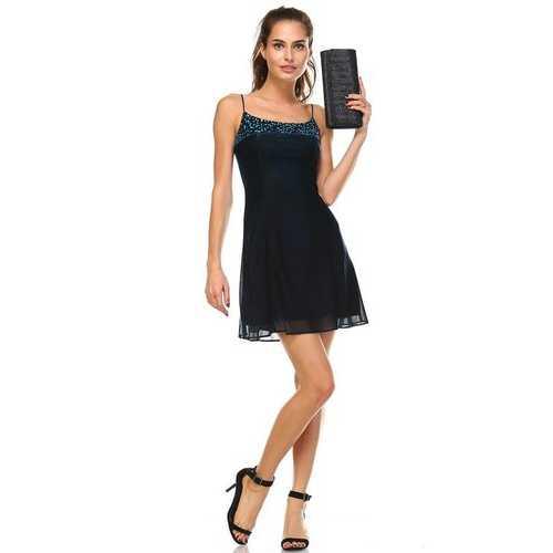 Women's Spaghetti Strap Shimmer Dress