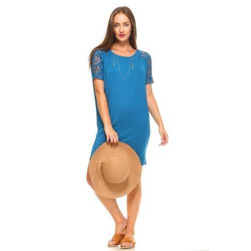 Women's Crochet Sleeve Dress