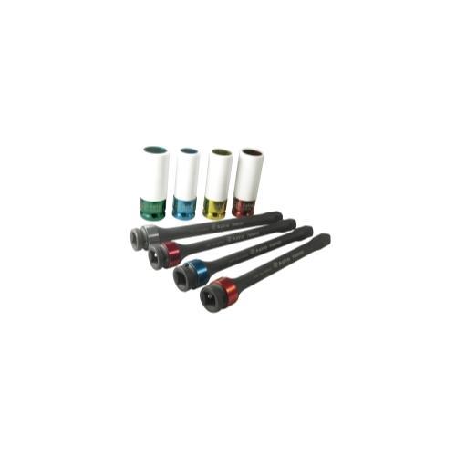 8pc Torque Limiting Ext & Protective Skt Set