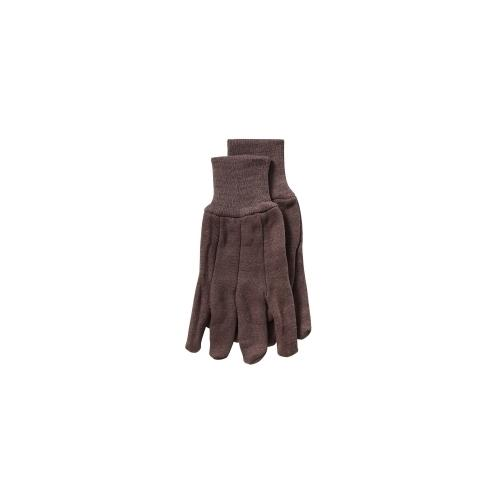 12 PK GLOVE BROWN JERSEY