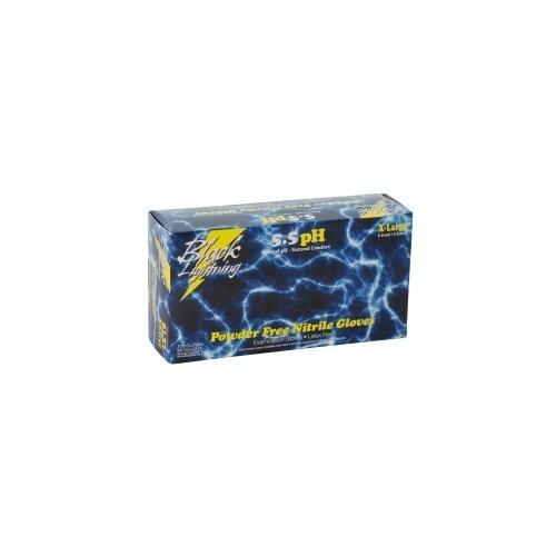 Black Lightning XXLarge Black Nitrile Gloves