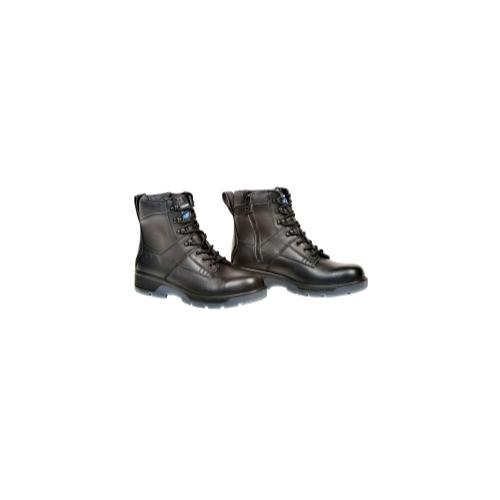 """Blk 6"""" Lace-up Side Zip Comp Toe Boot, 13"""