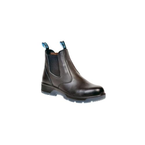 """Blk 6"""" Slip-On Comp Toe Safety Boot, 8.5"""