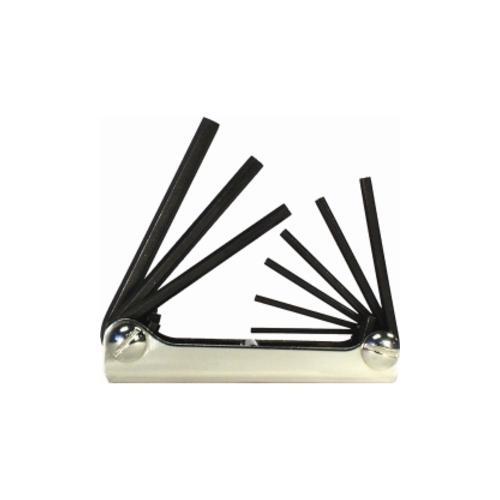 9-Piece SAE Fold-Up Hex Key Set