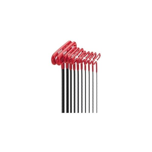 HEX KEY SET 10 PC T-HANDLE 6IN. SAE 3/32-3/8IN.CSH