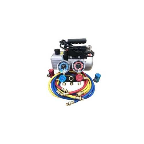R1234yf Vacuum Pump & Manifold Set