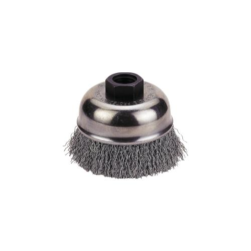 """CUP BRUSH 4"""" CRIMPED WIRE, 5/8""""-11 NC"""