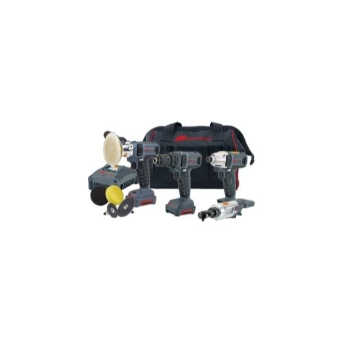 4 Piece Driver, Polisher/Sander, Ratchet and Drill