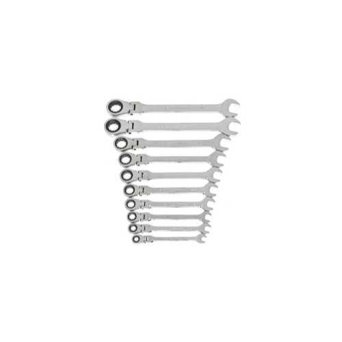 10PC SAE FLEX-HEAD RATCHETING COMBI WRE