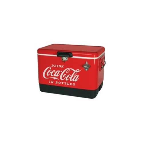 Coca Cola Metal Ice Chest, 54 Quart, Red