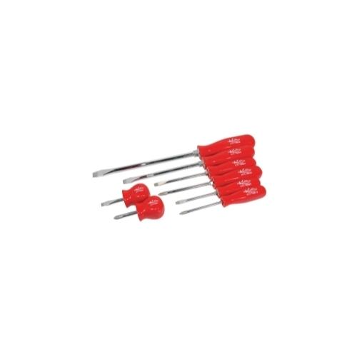 SCREWDRIVER SET PHILLIPS & SLOTTED 8PC RED