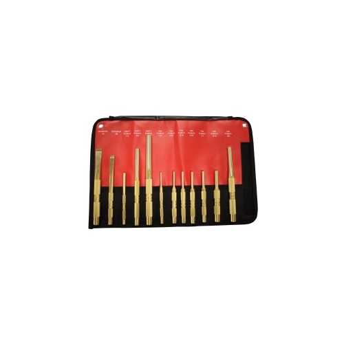12-PC BRASS PUNCH AND SCRAPER (SAE) SET