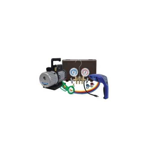 3 CFM Vacuum Pump with 55100-R Leak Detector
