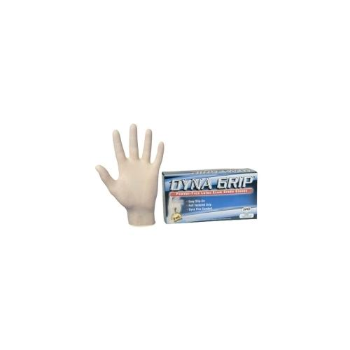 100-pk of Dyna Grip PF Latex Disp. Gloves, M