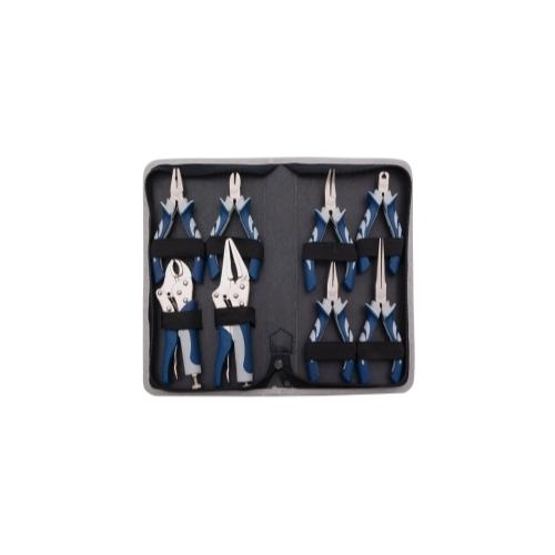 8 PC. MINIATURE PLIERS SET WITH CASE