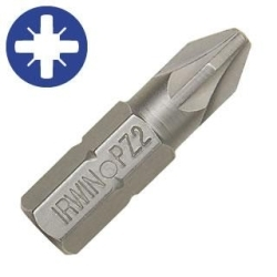 Power Bit, No. 2 Pozidriv, 1/4 in. Hex Shank with