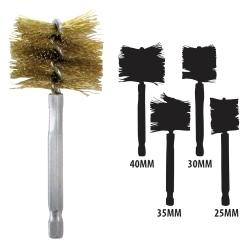 Brass 25mm-40mm Bore Brush Set
