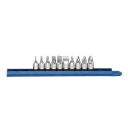 """10-Pc 1/4"""" Drive Phillips and Slotted Bit Driver"""