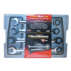 WRENCH RATCHING COMB SET 4PC 21-25MM GREARWRENCH