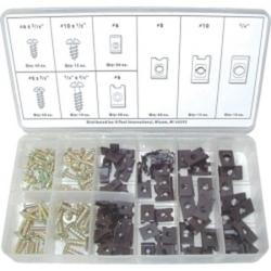 170-Piece U-Clip and Screw Assortment Kit