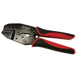 8.7 in. Ratcheting Terminal Crimper with Carbon St