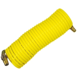 1/4 in. x 12 ft. Nylon Re-Koil Air Hose, Yellow