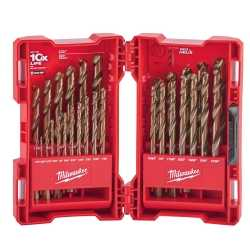 29 Pc RED HELIX Cobalt Drill Bit Set