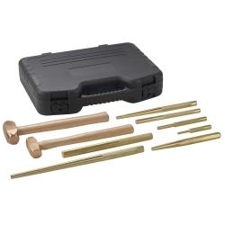 9-Piece Brass Hammer and Punch Set