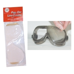 pk of 10 Peel-Off Lens Covers for Overspray Goggles 5110
