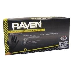Raven Black 6mil PF Nitrile Gloves, XXL (pk of 100)