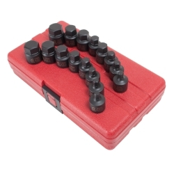 16-Piece 3/8 in. Drive Stubby Impact