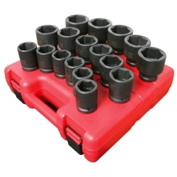 3/4 DR HD MET IMP SOCKET SET 17 PC (26MM-46MM)