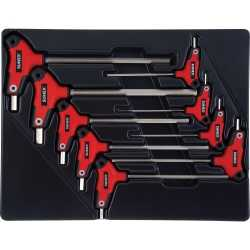 9-Piece T-Handle, Hex, Fractional SAE