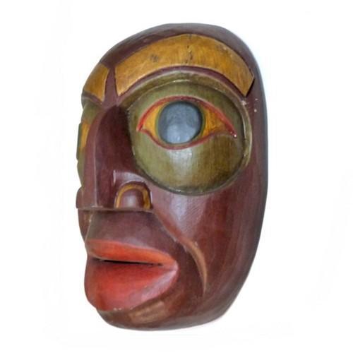 Hand Carved Wood Totem Mask 5418