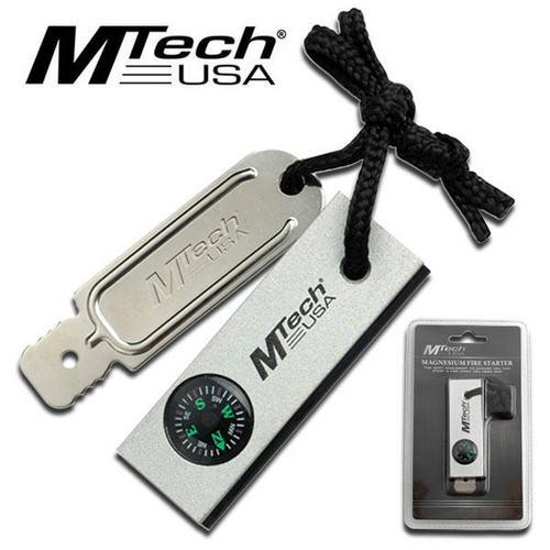 SALE M-Tech Magnesium Fire Starter with compass MT300