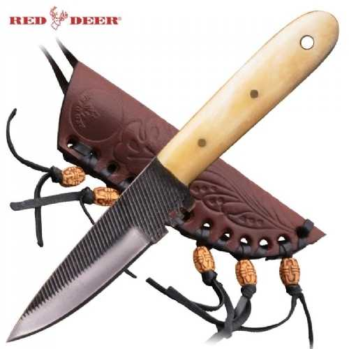 Red Deer FULL TANG Quality Bone Handle Patch knife PNSRW-120