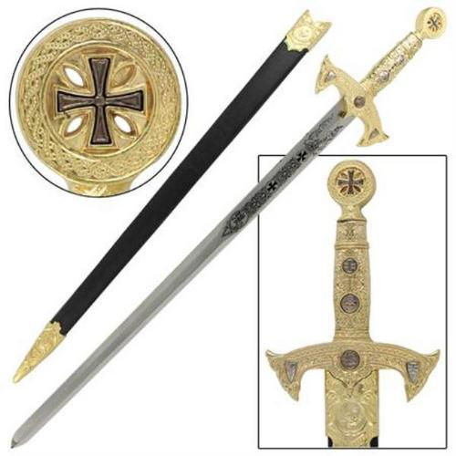 Knights Templar Gold Sword WG903