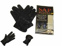 Category: Dropship Tactical Gear, SKU #SGP201, Title: Real Leather Sap Gloves SGP201