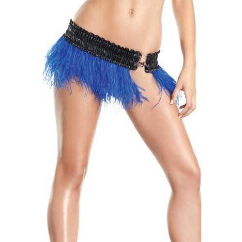 BW1500BL Ostrich Feather Skirt