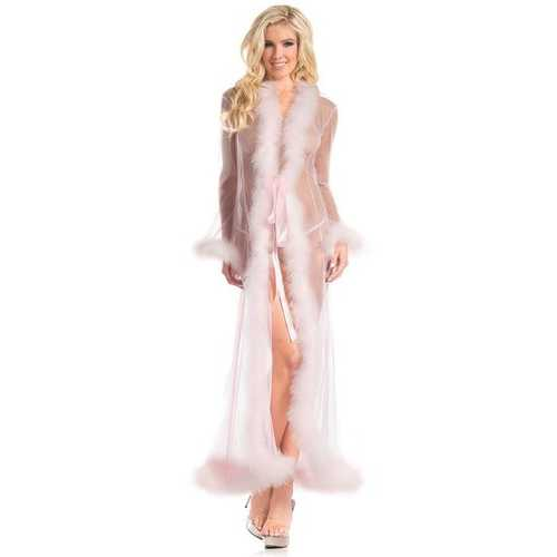 BW1650CP Marabou Robe Candy Pink