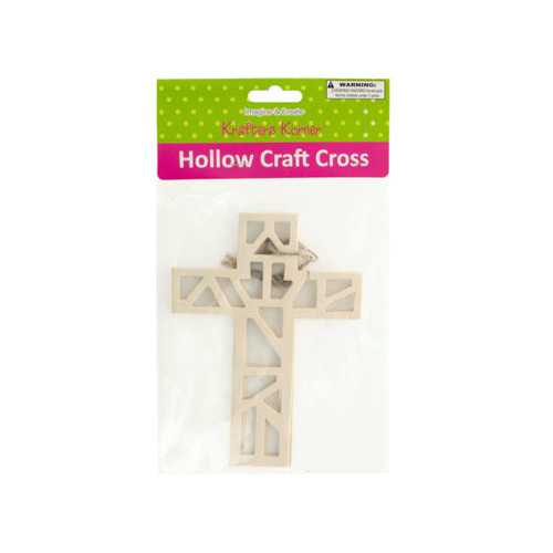 Hollow Wooden Craft Crosses Set ( Case of 20 )